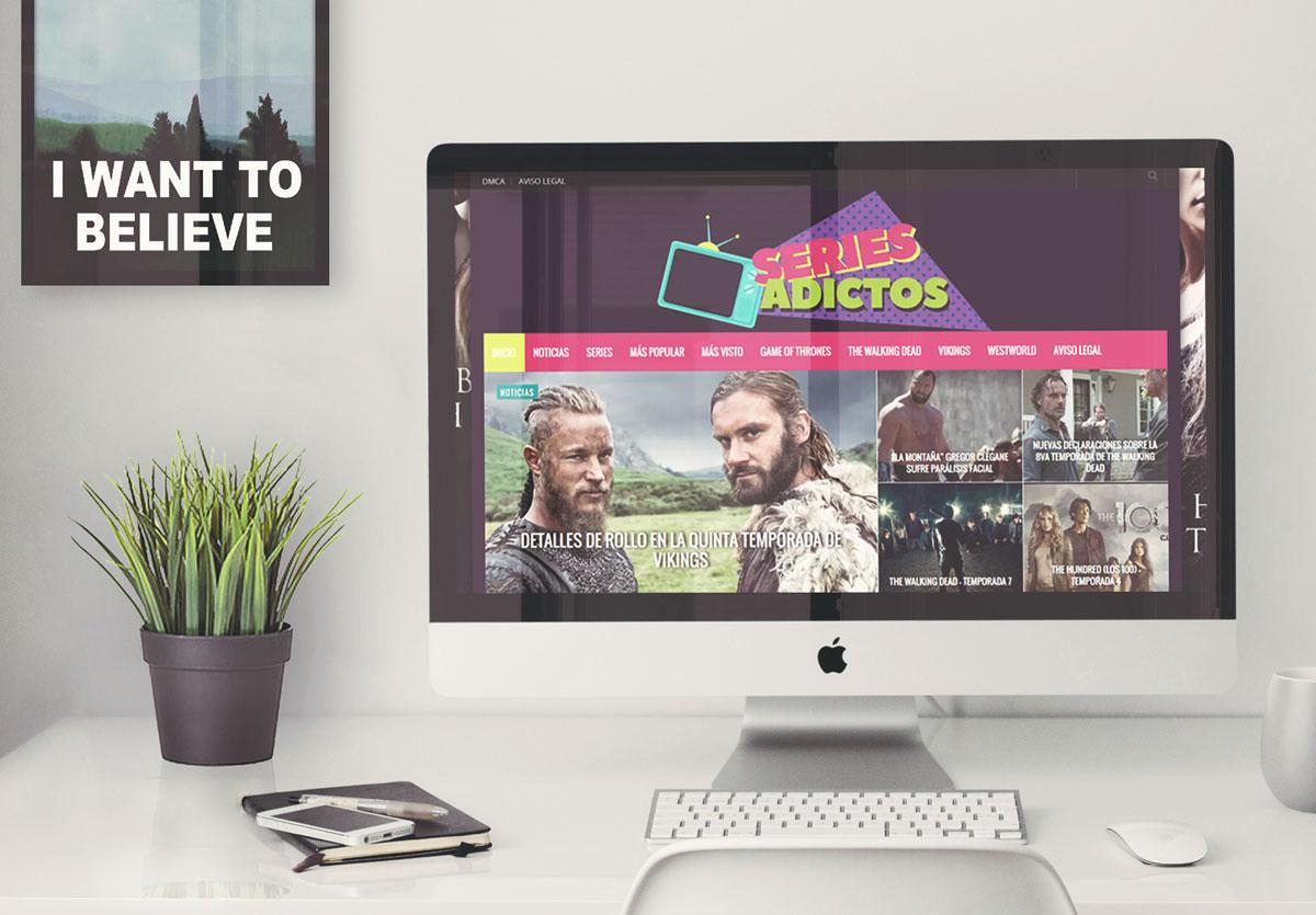 Diseño de Pagina web Series Adictos